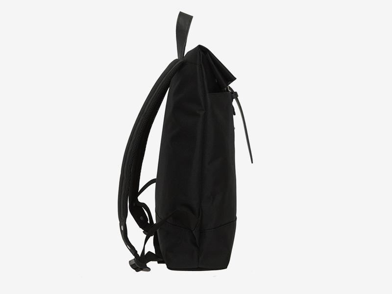 Enter — plátěný batoh — přeýbací — černý — Fold Top Backpack