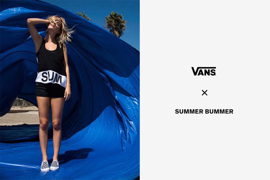 Vans x Summer Bummer — černo-bílé dámské tílko Sum Bum Tank
