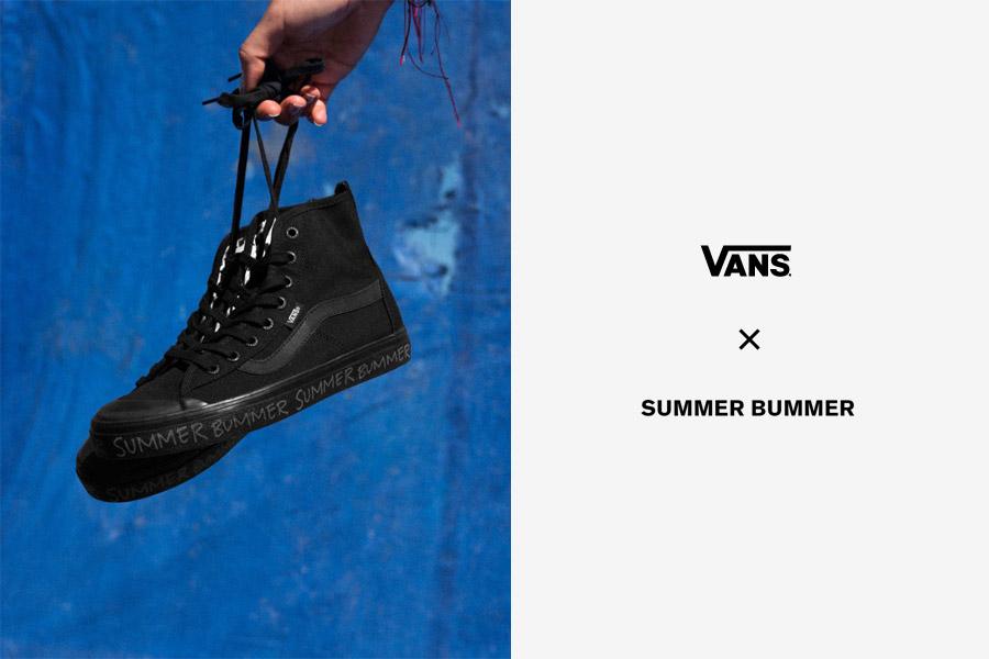 Vans x Summer Bummer — dámské plátěné kotníkové boty Dazie-Hi — černé kecky