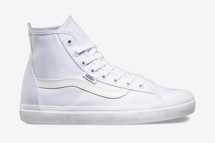 Vans x Summer Bummer — dámské plátěné kotníkové boty Dazie-Hi — bílé kecky