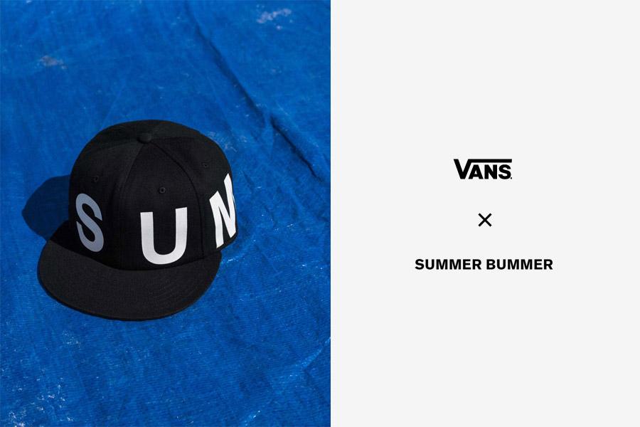 Vans x Summer Bummer — snapback kšiltovka Sum Bum Hat — černá, bílé logo