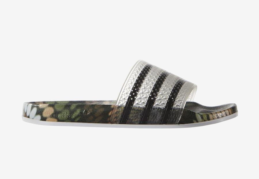 adidas Originals adilette x Rita Ora — dámské pantofle — nazouváky — černé — barevné — slides
