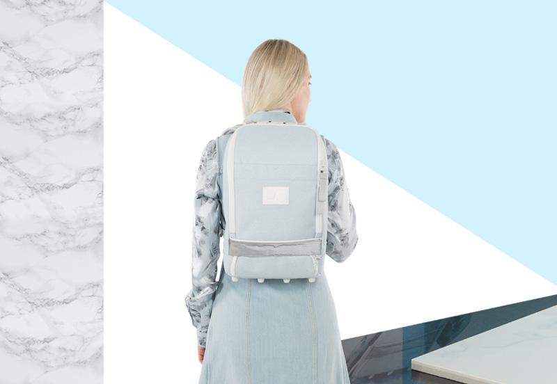 Plátěné batohy PINQPONQ Cubik z PET lahcí inspirované mramorem