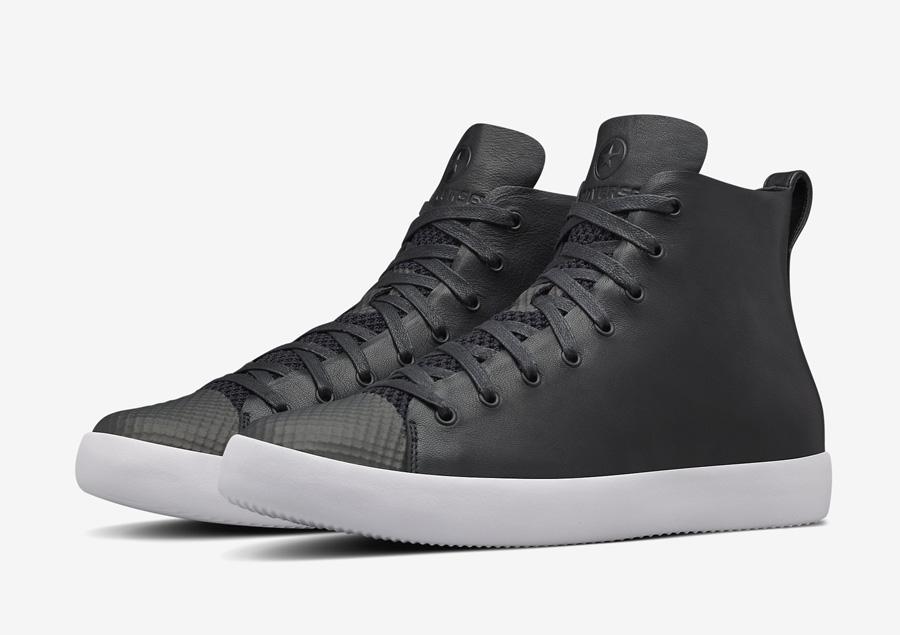 Converse All Star Modern High Top HTM — kotníkové boty — dámské, pánské — černé — kožené tenisky — Conversky