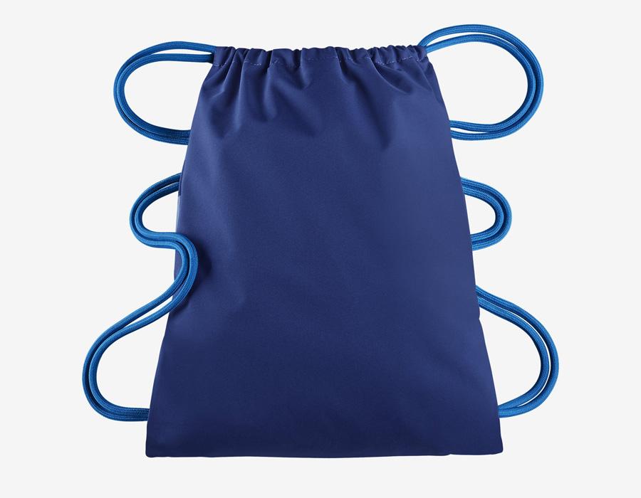 Nike Heritage Gymsack — vak na záda se silnými popruhy — pytel — modrý — zadní strana