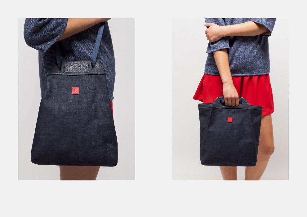 Ucon Acrobatics — dámská taška přes rameno, tmavě modrá, plátěná — dámská taška do ruky, tmavě modrá, plátěná