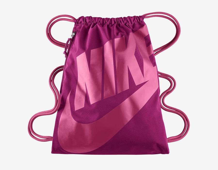 Nike Heritage Gymsack — vak na záda se silnými popruhy — pytel — tmavě růžový