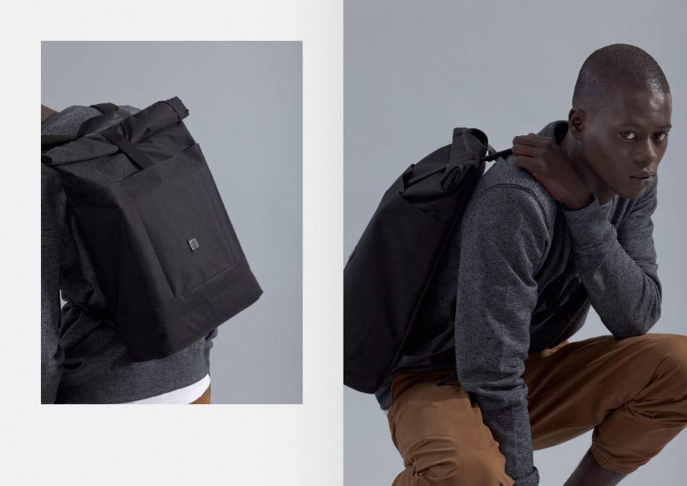 Ucon Acrobatics — plátěný batoh na záda — černý