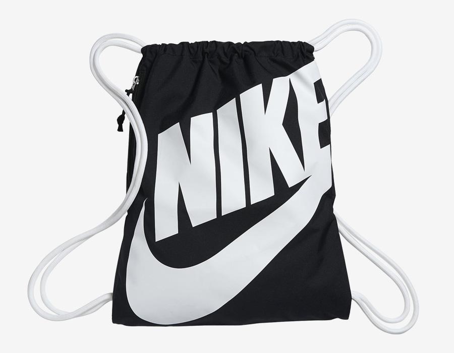 Nike Heritage Gymsack — vak na záda se silnými popruhy — pytel — černý
