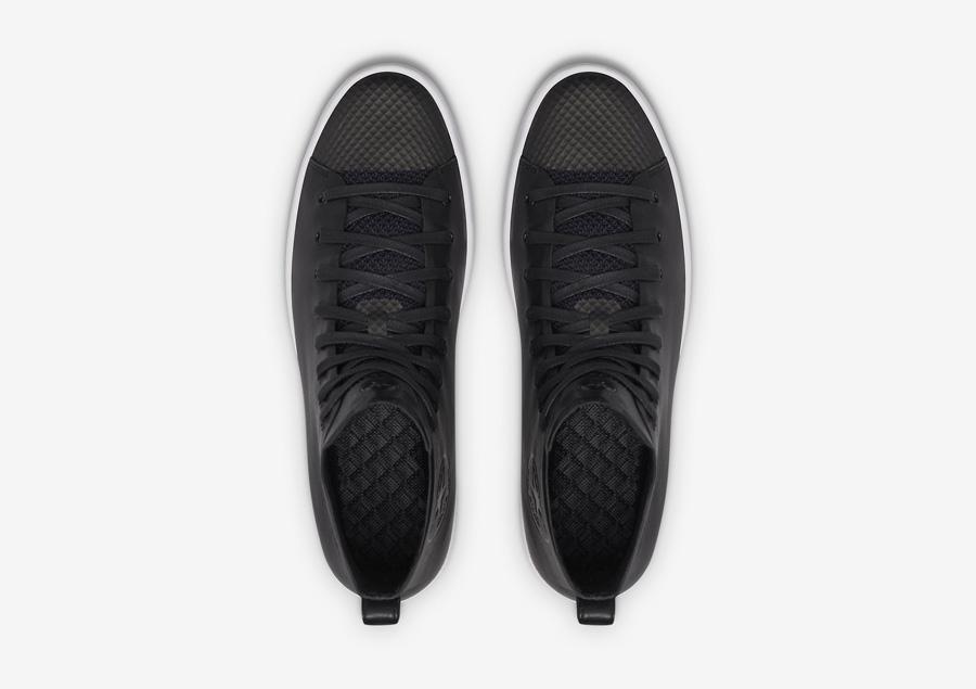 Converse All Star Modern High Top HTM — kotníkové boty — dámské, pánské — černé — horní pohled — Conversky