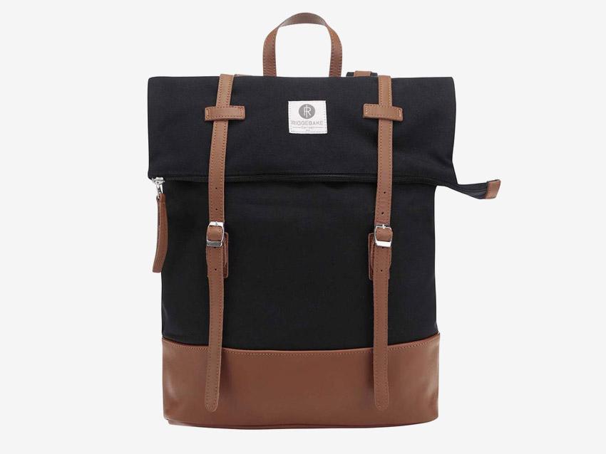Ridgebake — plátěný batoh, přehýbací, rolovací — Mid Rolling — černý