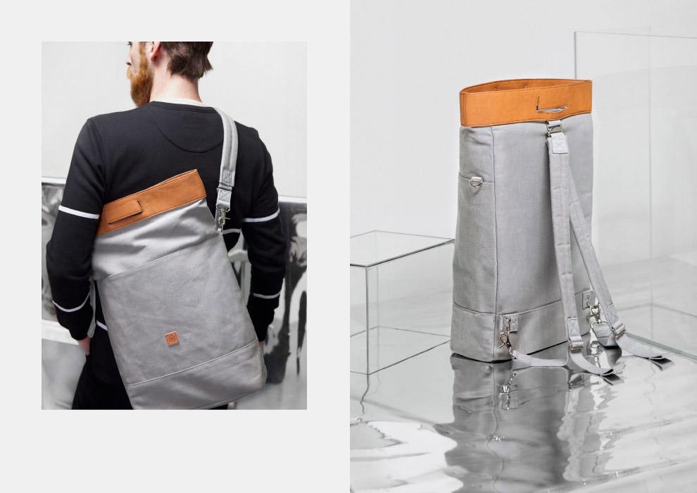 Ucon Acrobatics — šedý batoh na záda — plátěný