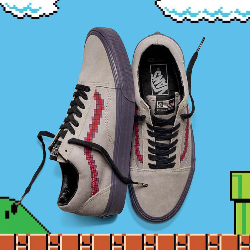 Vans x Nintendo — Old Skool — semišové tenisky — pánské, dámské — geek