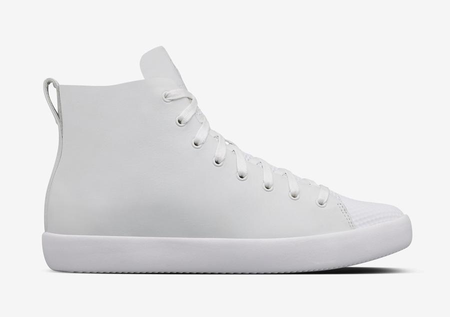 Converse All Star Modern High Top HTM — kotníkové boty — dámské, pánské — bílé — kožené tenisky — Conversky