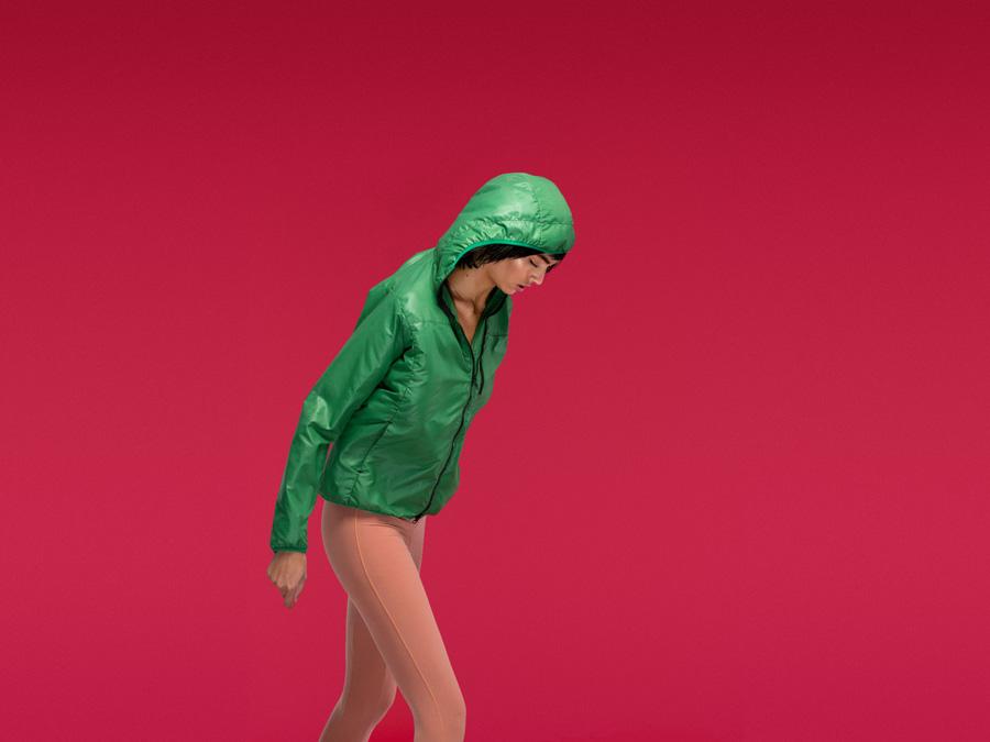 Full Court — dámská sportovní zelená bunda s kapucí — dámské sportovní oblečení — 2016