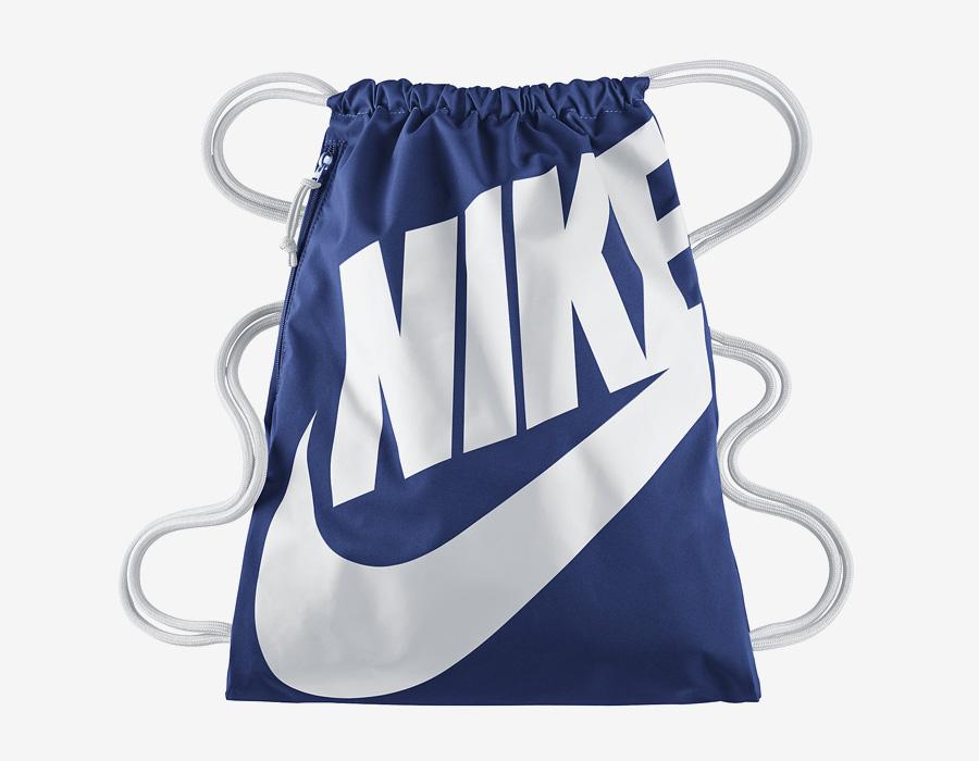 Nike Heritage Gymsack — vak na záda se silnými popruhy — pytel — modrý s bílým potiskem