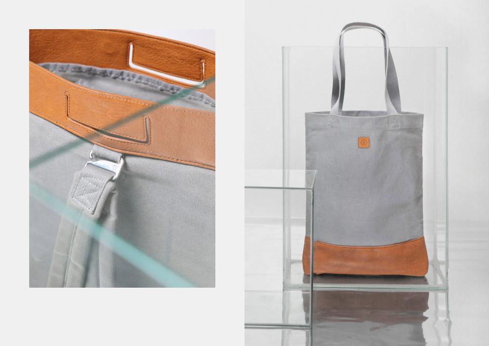 Ucon Acrobatics — nákupní taška do ruky — šedá — plátěná