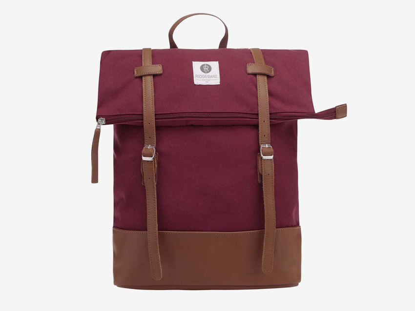 Ridgebake — plátěný batoh, přehýbací, rolovací — Mid Rolling — vínový, červený