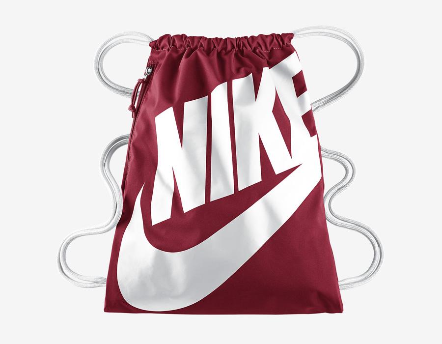 Nike Heritage Gymsack — vak na záda se silnými popruhy — pytel — červený s bílým potiskem