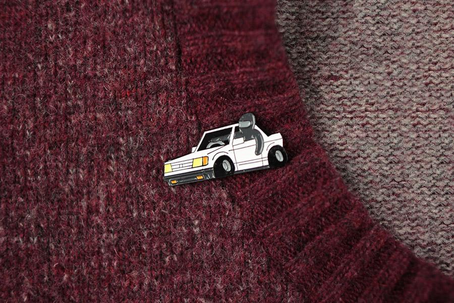 Retart — odznak (pin) — Ninjas Car — Osem