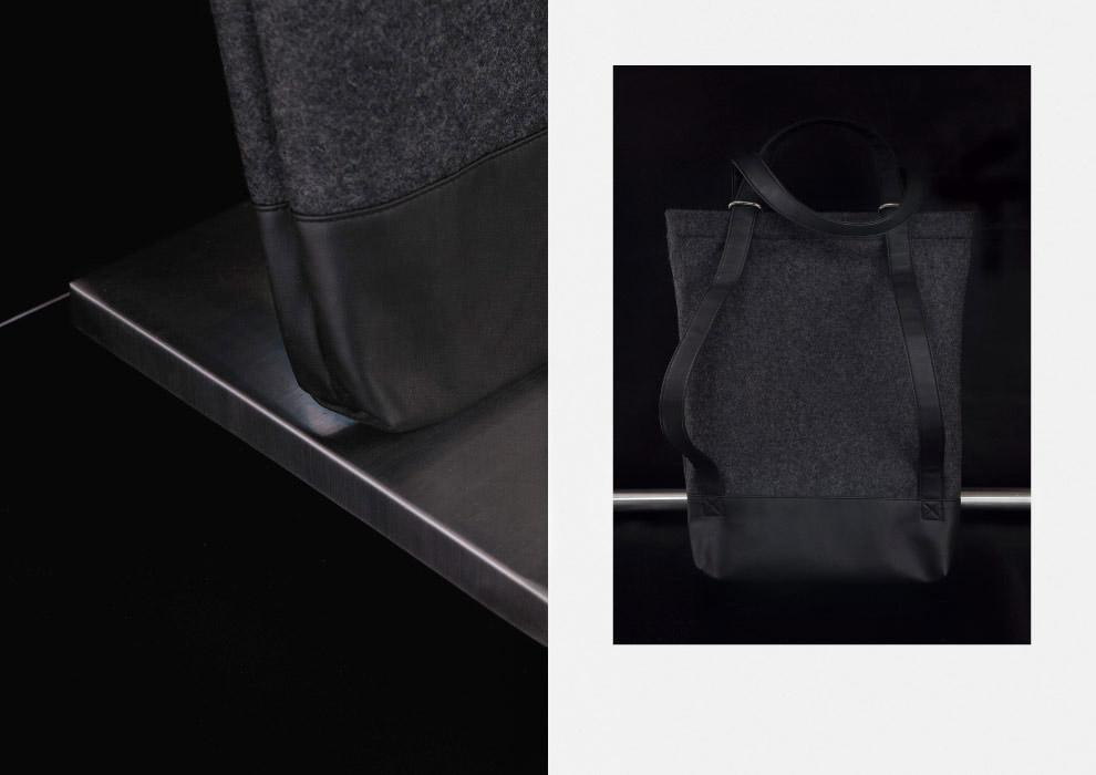 Ucon Acrobatics — taška přes rameno, batoh — vlněná — šedá, černá