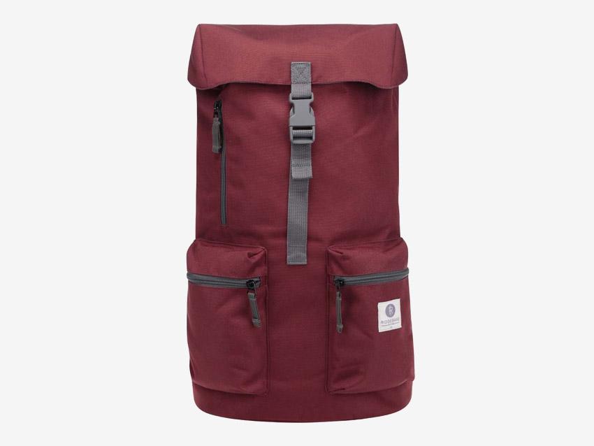 Ridgebake — plátěný batoh — Iowa — vínový, červený