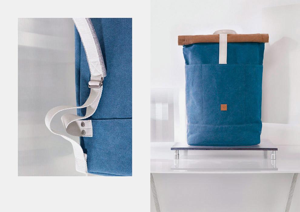 Ucon Acrobatics — modrý batoh na záda, do ruky — plátěný