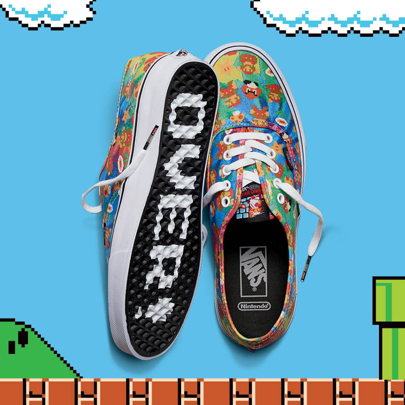 Vans x Nintendo — Authentic — dámské plátěné kecky, tenisky — Super Mario Bros — geek