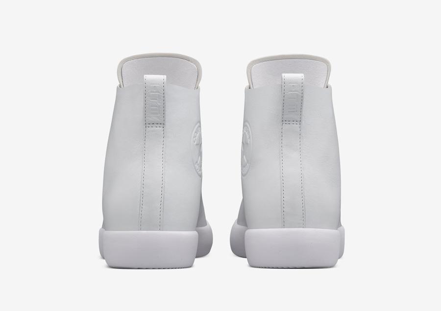 Converse All Star Modern High Top HTM — kotníkové boty — dámské, pánské — bílé — zadnní pohled — Conversky