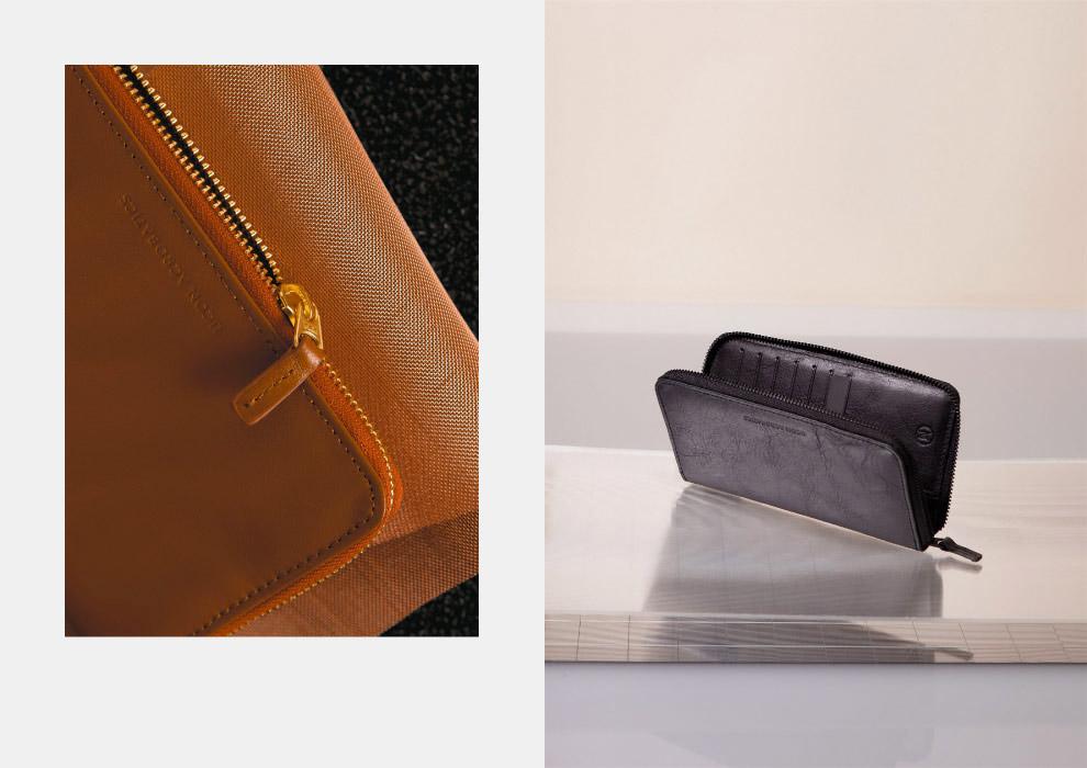 Ucon Acrobatics — kožená peněženka — karamelově hnědá, černá