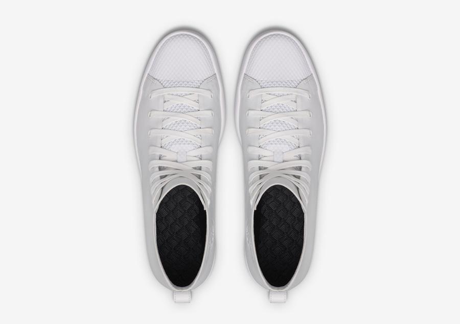 Converse All Star Modern High Top HTM — kotníkové boty — dámské, pánské — bílé — horní pohled — Conversky
