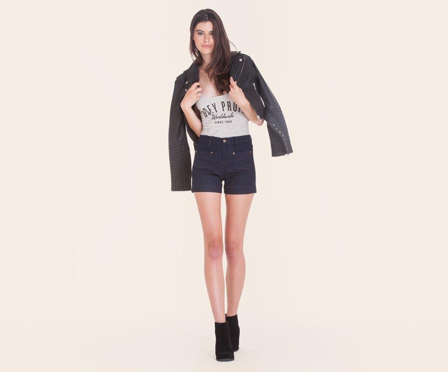 Obey — dámské jeansové šortky, kraťasy — dámské oblečení — léto 2016
