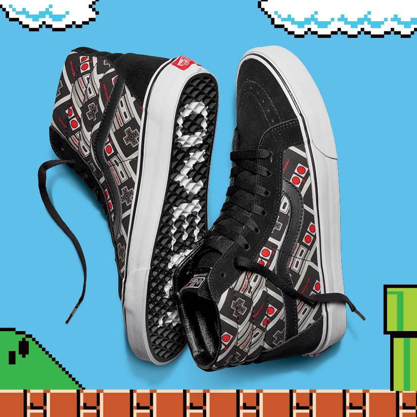 Vans x Nintendo — Sk8-Hi Reissue — kotníkové tenisky — Nintendo Controller — geek