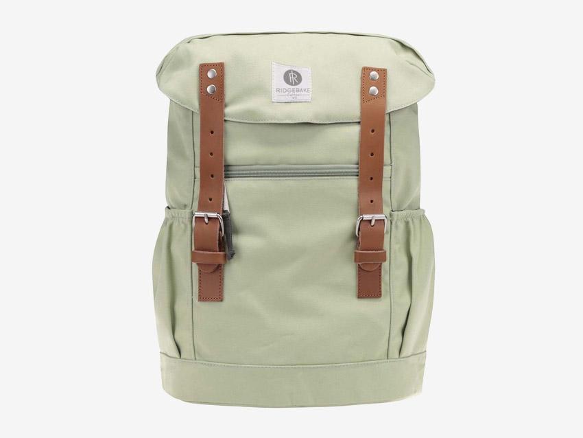 Ridgebake — plátěný batoh — Otone Canvas — světle zelený, pastelový
