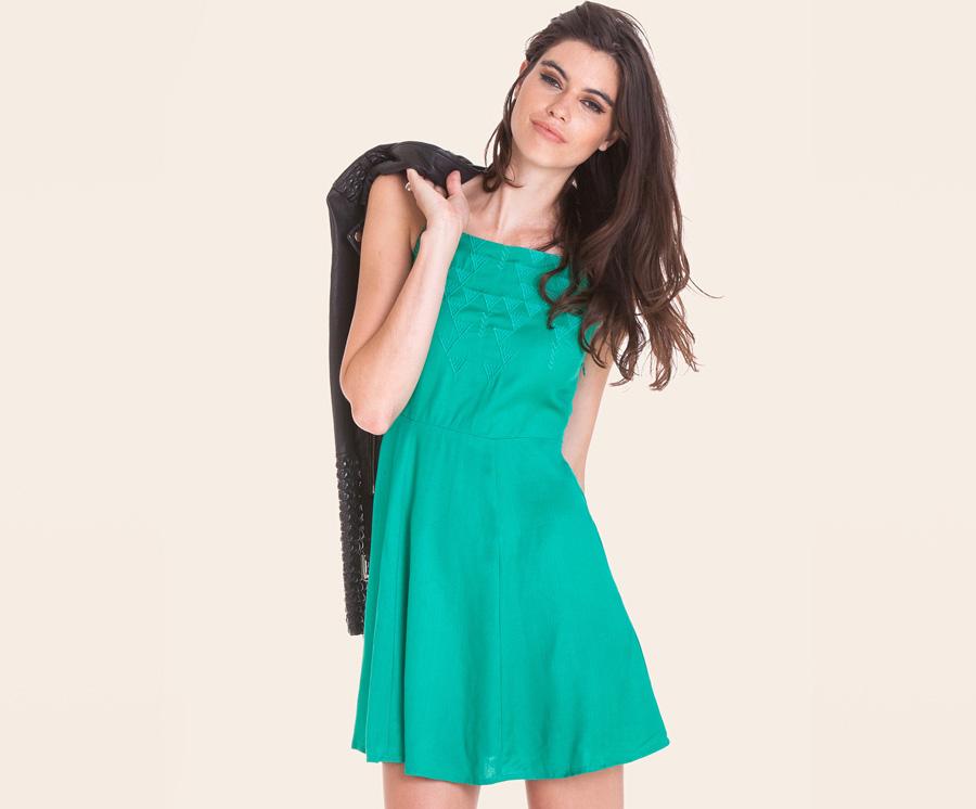 Obey — zelené letní šaty s ramínky — dámské oblečení — léto 2016