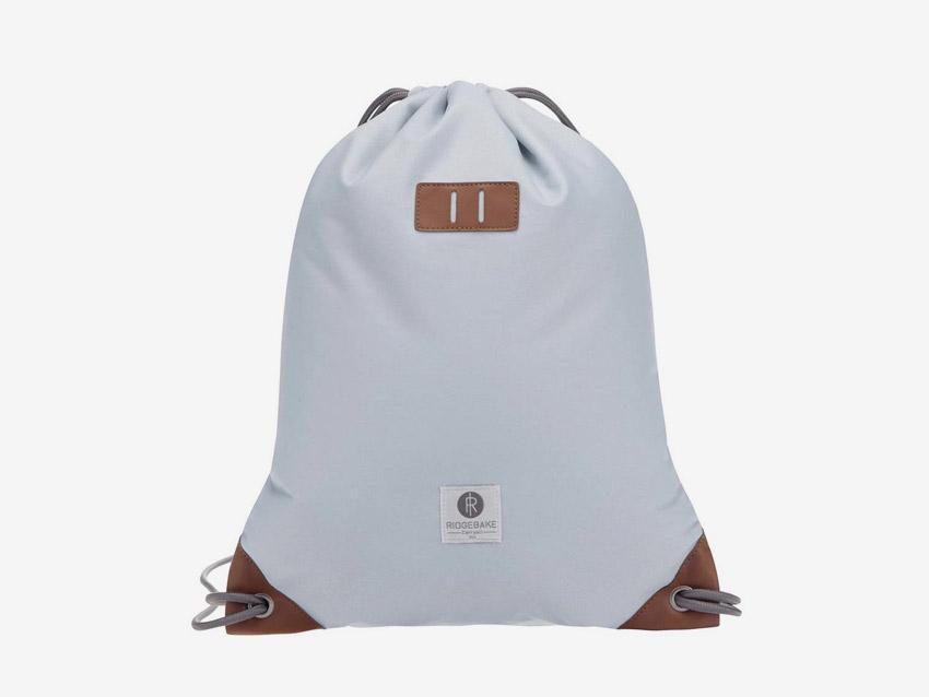 Ridgebake — plátěný batoh, vak, pytel — Rich Pauli — světle modrý, pastelový