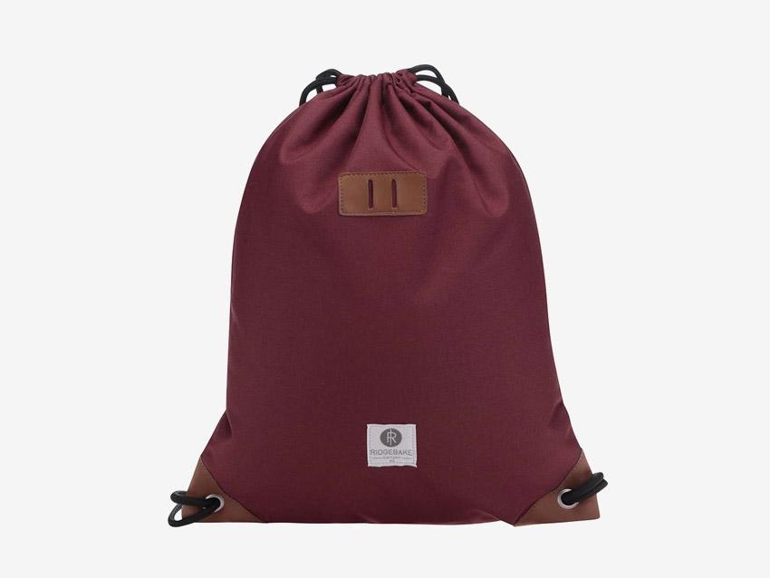 Ridgebake — plátěný batoh, vak, pytel — Rich Pauli — vínový, červený