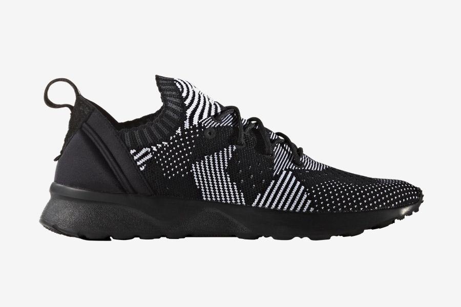 adidas Originals ZX Flux ADV Virtue — dámské boty, tenisky — černé — adidas Primeknit — Slip On