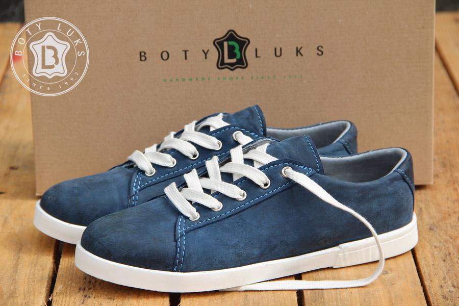 BotyLuks — české tenisky — české boty — kožené — vycházkové tenisky — pánské, dámské — modré