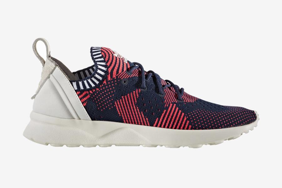 adidas Originals ZX Flux ADV Virtue — dámské boty, tenisky — červené, modré — adidas Primeknit — Slip On