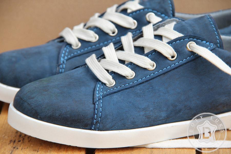 BotyLuks — české boty — české tenisky — kožené — vycházkové tenisky — pánské, dámské — modré