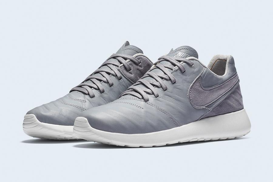 Nike Roshe Tiempo VI QS — tenisky, kožené boty — pánské, dámské — šedé