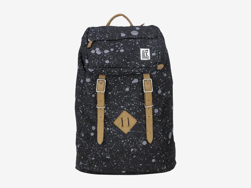 The Pack Society — batoh s řemeny na záda — černý — šedé skvrny — Premium Backpack — levný batoh