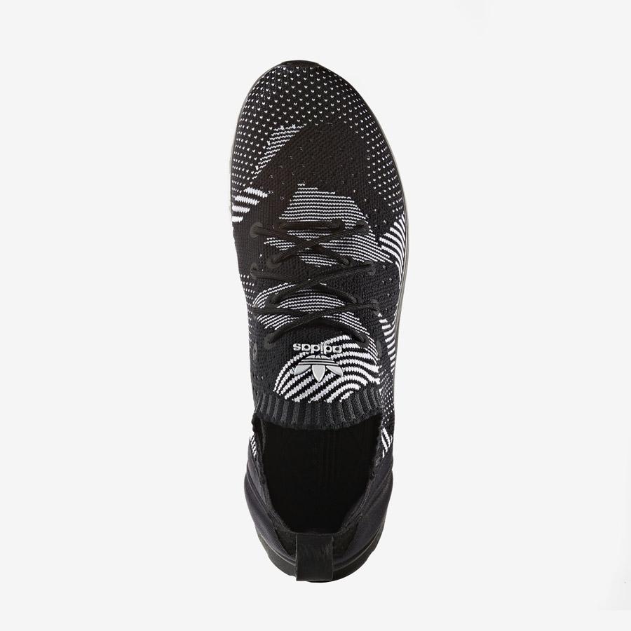 adidas Originals ZX Flux ADV Virtue — dámské boty, tenisky — černé — horní pohled — adidas Primeknit — Slip On