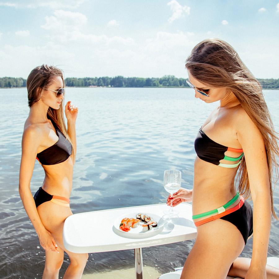 Cardio Bunny — dámské plavky dvoudílné, bez ramínek — swimwear