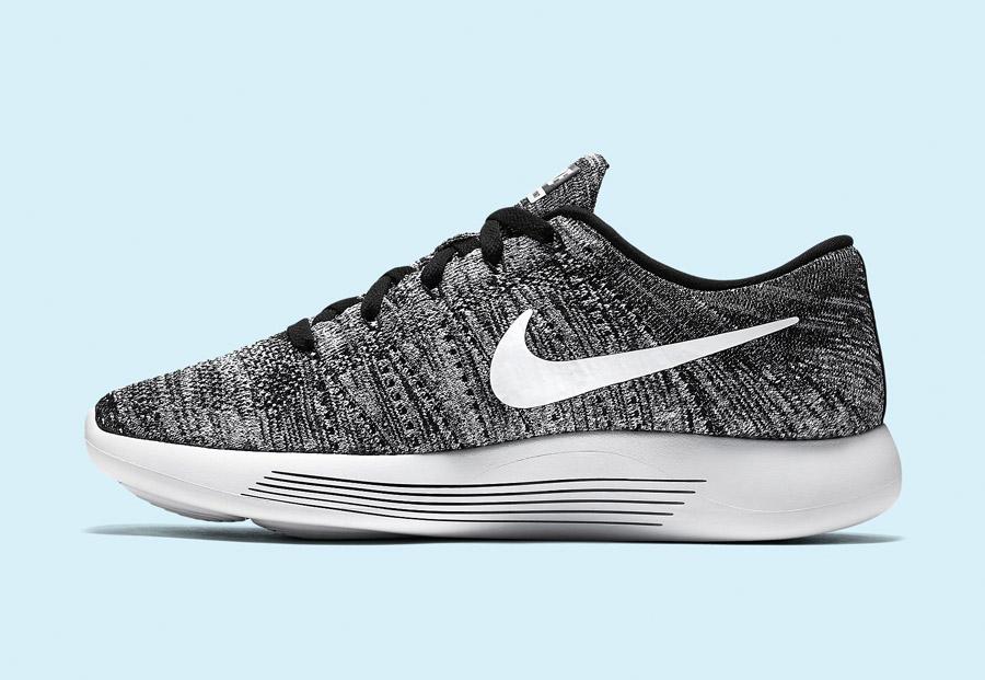 Nike LunarEpic Low Flyknit — pánské běžecké boty — tenisky — lehké — textilní — černé, bílé