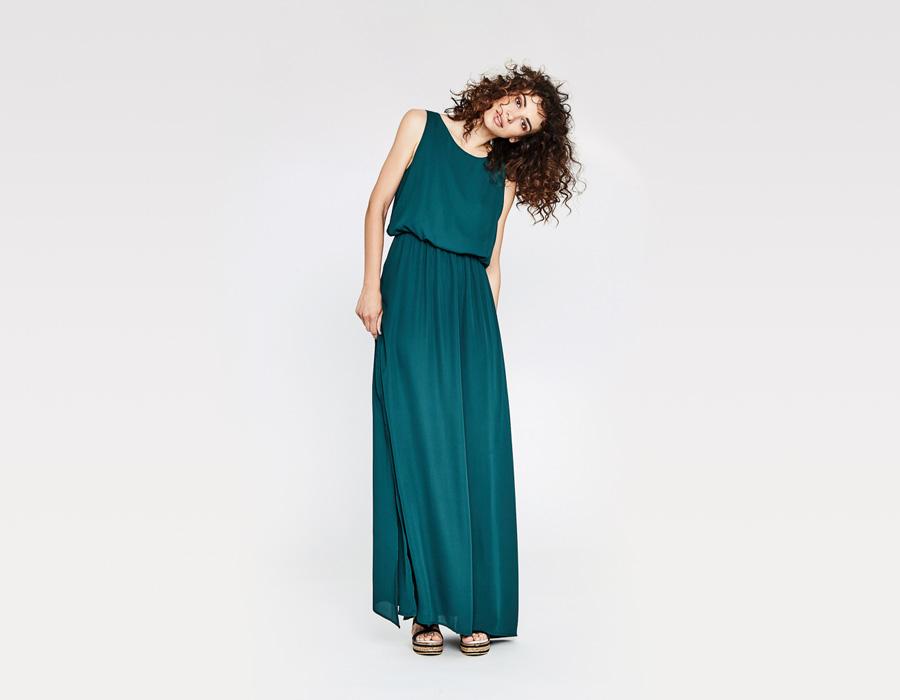 Alchymi — dámské letní šaty — dlouhé, formální — tmavě zelené —