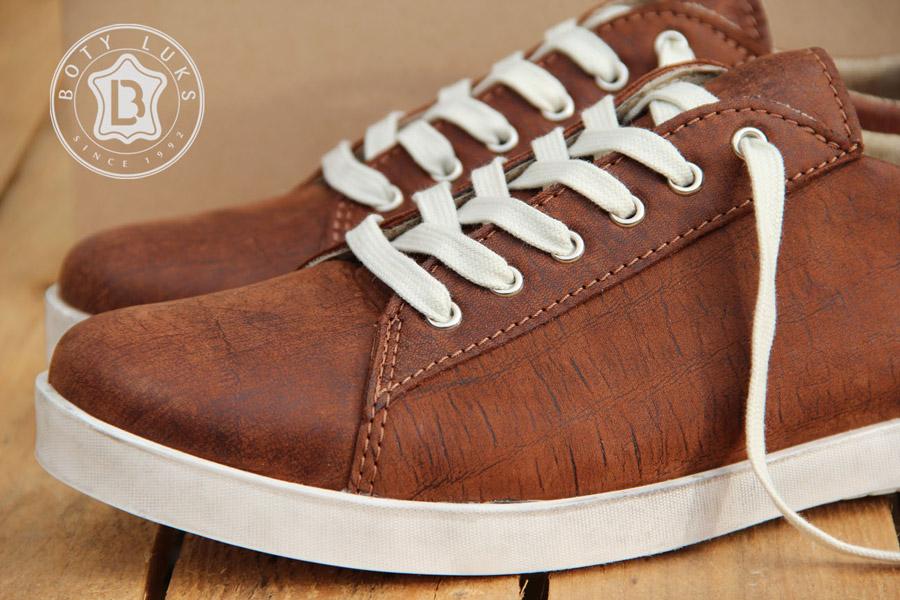 BotyLuks — české boty — české tenisky — kožené — vycházkové tenisky — pánské, dámské — hnědé
