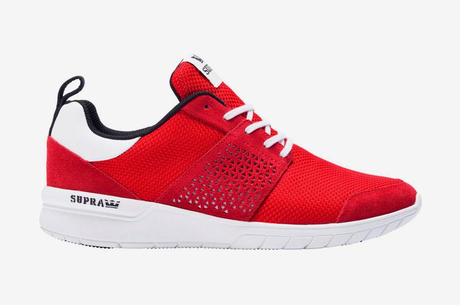 Supra Scissor — tenisky — boty — sneakers — dámské, pánské — červené