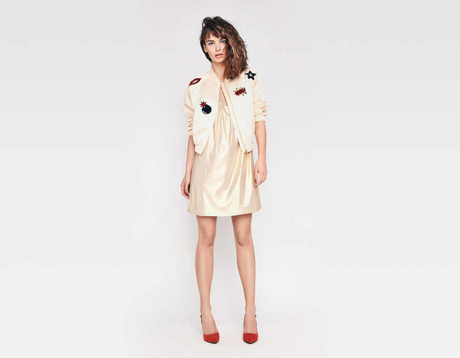 Alchymi — dámské letní šaty — bez rukávů — zlaté — Amber